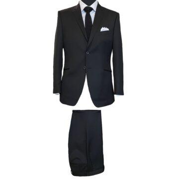 CB11024 - Black Twill Solid, 100% Wool