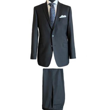 CB91300 - Black Matt Natural Stretch Wrinkle Recovery, 100% Wool
