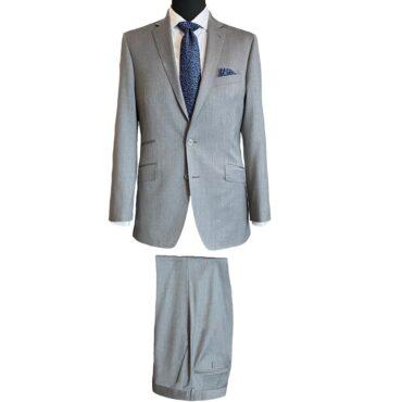 CG93302 - Grey Solid Stretch, 97% Wool, 3% Lycra