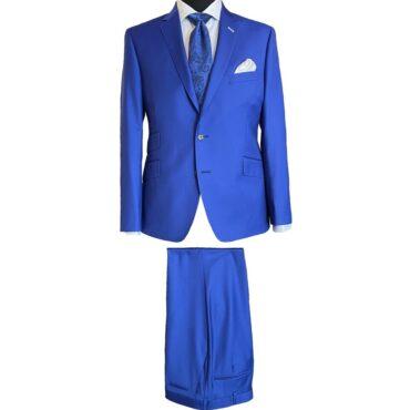 CN51126 - Oxford Blue Solid, 100% Wool