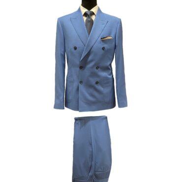 CN51125 - Blue Solid, 100% Wool