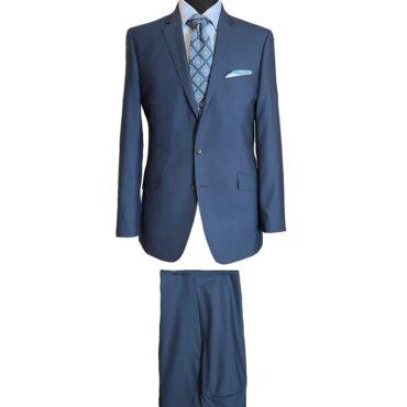 CN51154 - Blue Solid, 100% Wool