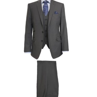 CG21168 - Dark Grey Solid Tropical, 100% Wool