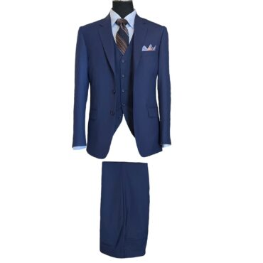 CN51152 - Ink Blue Solid Tropical, 100% Wool