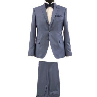 CN51178 - Blue Solid, 100% Wool