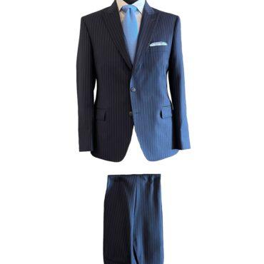 CN51185 - Navy Stripe, 100% Wool