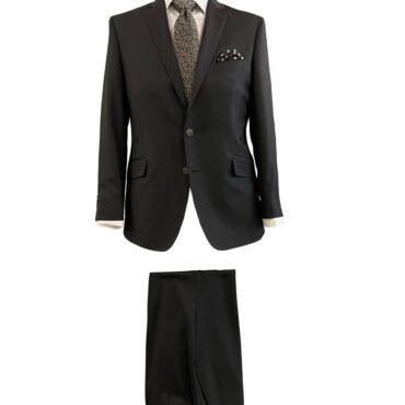 EB81101 - Black Solid, 100% Wool