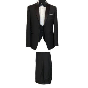 EB91120 - Black Solid Tuxedo, 100% Wool