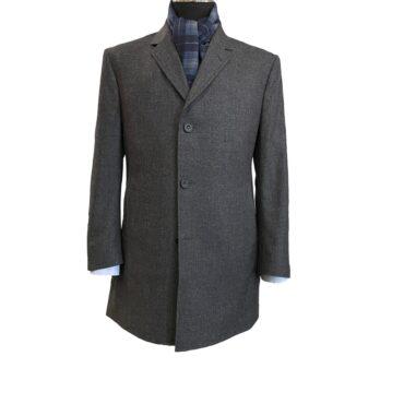 EG23027 - Dark Grey Mini Check Flannel, 100% Wool