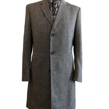 EG23470 - Grey Herringbone, 100% Wool