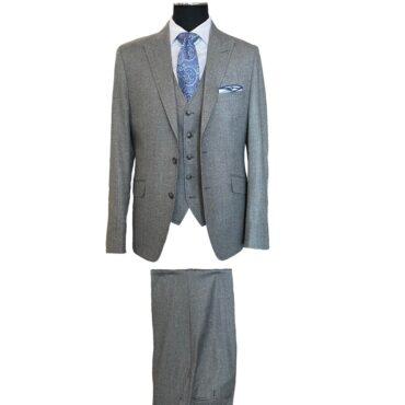 EG84111 - Light Grey Flannel Solid, Micro 120's, 100% Wool