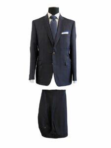 EN54004 - Dark Navy Plaid, Zegna, 100% Wool, $1,300