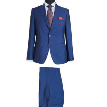 EN87105 - Blue Solid, 73% Wool, 27% Mohair
