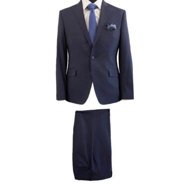 EN95400 - Navy Stripe Summer Suit, 100% Wool