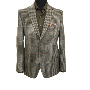 EO43308 - Green Check-Harris Tweed Jacket Recommendable, 100% Wool
