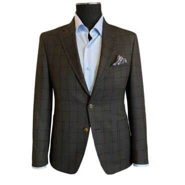 ER19701 - Brown/Navy Plaid, 100% Wool