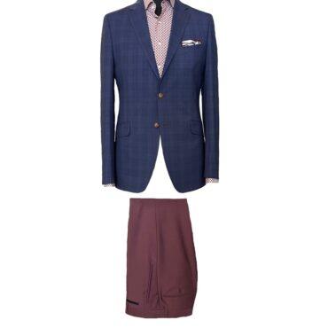 EN07701 - Blue/Red Plaid, 100% Wool