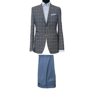 EG04101 - Light Grey Plaid, 100% Wool