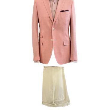 EO80100 - Light Pink Basket Weave Jacketing, 100% Wool